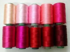 LOT of 10 PINK 150/2 Denier Viscose Rayon Thread Yarn- Hand & Machine Embroidery