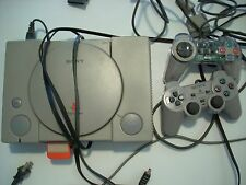 10 Games & Sony PlayStation Gray Console (SCPH-5502) 2 Controllers Memory Card