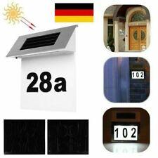 18cm Solar 4LED Edelstahl Hausnummerleuchte Solarleuchte Hausnummer Haus Le R0W0