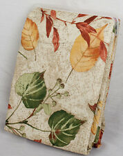 "Fabric Tablecloth Autumn Fall Leaves Thanksgiving Decor Design 60"" x 84"""