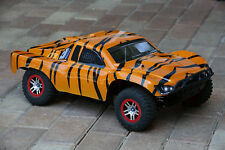Custom Body Tiger Style for Traxxas Slash 1/10 4x4 VXL 2WD Slayer Shell Cover