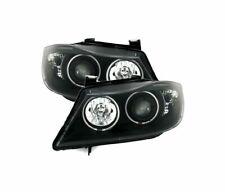 BMW 3 SERIES E90 E91 2005-2008 BLACK VP549 SET CCFL ANGEL EYES HEADLIGHTS RHT