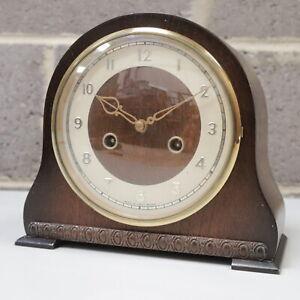 Vintage Art Deco Wooden SMITHS Chiming Mantel Clock - 232