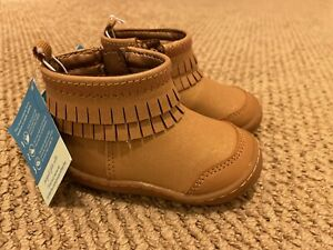 NWT Stride Rite 360 Bianca Brown Winter Boots Toddler Size 4 M