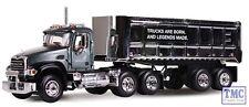 60-0296 1:64 SCALE Mack Granite with Chrome 22' End Dump Trailer Mack Trucks