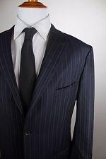Isaia Napoli Sport Coat Size 48L Long 130's Stewart A Blazer Mens Dark Navy