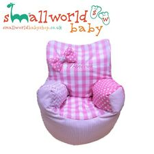 Personalised Girls Pink Patchwork Toddler Bean Bag Chair (NEXT DAY DISPATCH)