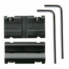 """1 Pair Picatinny 11mm Dovetail To 7/8"""" 20mm Weaver Rail Adapter Mount New F6"""