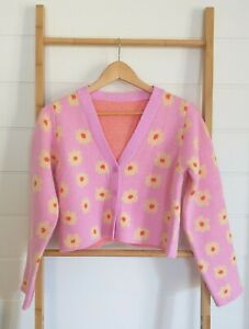 Gorgeous Womens Shein Pink Floral Cardigan Flowers