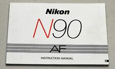 NIKON N90 AF Camera Guide Manual Instruction Photography Book