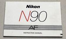 NIKON N90 AF Camera Guide Manual Instruction Photography Book