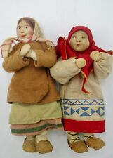 Two Antique Stockinette Russian Girls
