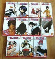 11 Manga Books Bleach Volumes 1-2-3-4-5-6-7-8-9-10 &11 Shonen Jump Manga