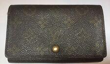 Louis Vuitton Brown Monogram Canvas Wallet Coin Purse Credit Card Slots