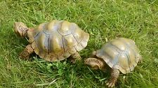 2 x tortoise garden ornaments