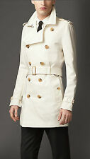 NWT BURBERRY $900 BRITTON  MENS DOUBLE BREASTED TRENCH COAT JACKET LARGE