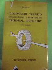 MAROLLI. DIZIONARIO TECNICO / TECHNICAL DICTIONARY. ITALIANO-INGLESE.LE MONNIER