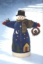 # 1980 Snowman cloth doll pattern by Bonnie B Buttons - Fleece and felt fabrics