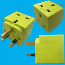 Luz Verde 2 forma 13 Amp Reino Unido 3 Pin Plug Socket Splitter Adaptador, Tv, Portátil