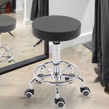 Adjustable Swivel Salon Stool Rolling Barber Chair Black