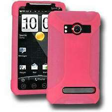 NEW AMZER BABY PINK PREMIUM SILICONE SOFT SKIN JELLY CASE COVER FOR HTC EVO 4G