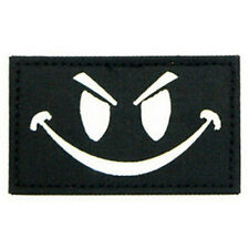 EVIL SMILEY SMILE FACE TACTICAL ISAF REFLECT MILSPEC GLOW IR MORALE PATCH