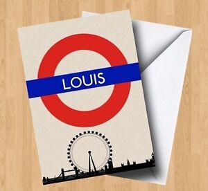 Personalised London/Underground Sign Birthday Card