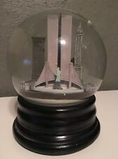 Saks Fifth Avenue Snow Globe LARGE New York NY Musical Train Twin Towers RETIRED