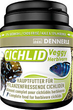 Dennerle Premium Fish Food: Cichlid Veggy 200ml for Herbivorous Cichlids