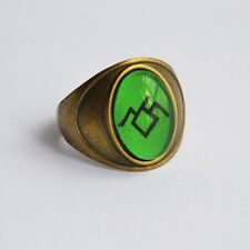 Black Lodge Ring - Owl Cave Symbol on Unisex Bronze Signet Ring Twin Peaks