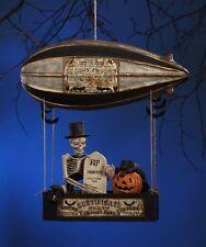 Skinny Pete's Dirigible Halloween Skeleton Black Cat Balloon Bethany Lowe TD6027