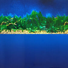 Aquarium Background Double-Sided Repeating Amazon Plants Ocean Blue Fish Tank