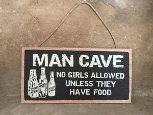 Heaven Sends wooden hanging Man Cave sign 28cm