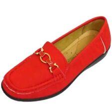 Zapatos planos de mujer sin marca color principal rojo