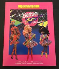 Barbie And The Beat On Tour 3-D Moveable Paper Doll Play Set-New Uncut 1991