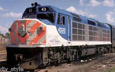 North West Suburban Mass Transit F40C passenger locomotive railroad postcard