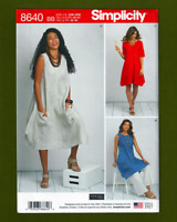 NEW! Pullover Dress or Tunic Sewing Pattern (Plus Sizes 20W-28W) Simplicity 8640