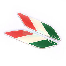 2pcs Italy National flag ABS Badge Decal Emblem Sticker For IT Luxury Car