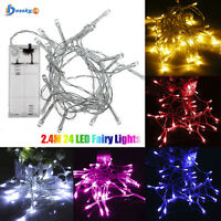 2.4M 24 LED Fairy Lights Lamps Home Xmas Wedding Party Decoration High Quality