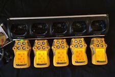 5X BW Technologies GasAlert Quattro MultiGas Gas Monitor Detector H2S,LEL,CO,O2