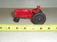 VINTAGE 1950s HUBLEY KIDDIE PLASTIC TOY TRACTOR WITH DRIVER & RUBBER TIRES