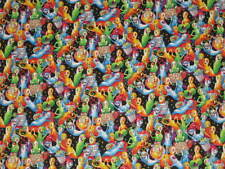 "RARE!!!!!!! HALLOWEEN  ""PUMPKINVILLE RAINBOW GHOSTS ""  FABRIC SOLD BY THE YARD"
