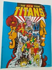 "New Teen Titans 1982 Pre #1 Promo poster Display Comic Shops mint 9"" x11"" vtg"