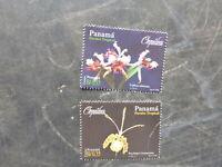 2000 PANAMA ORCHIDS SET 2 MINT STAMPS