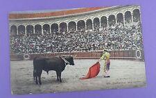 Vintage Postcard - Bullfighting, Spain - Perfilandose para matar