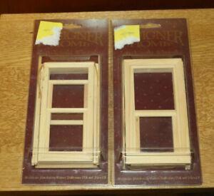 Dolls House Miniature  - Sash windows x 2