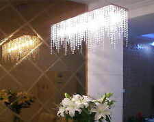 Modern Rain Drop Chandelier Lighting Crystal Ball Fixture Pendant Ceiling Lamp