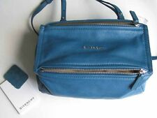 Givenchy AUTH NWT Grained Goatskin Pandora Mini Messenger Crossbody Teal