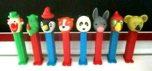 Retired Pez MERRY MUSIC MAKER Whistle Set Of 8 $4.99 ship to the U.S.