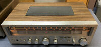 Vintage Sanyo AM/FM Stereo Receiver 2033 Phono Record Player Aux Buttons Bass